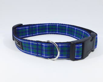 Douglas Tartan Collar, Scottish clans,plaid, Douglas, pets, dogs,luxury dog collar
