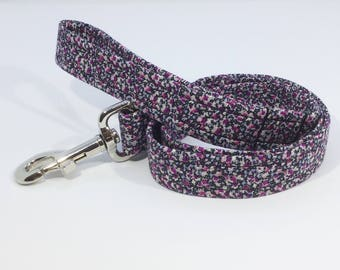 Liberty Pepper Lead, Liberty Pepper Dog Collar, dog collar,dog leash, luxury dog collar, luxury dog leash,Liberty, purple dog collar, purple