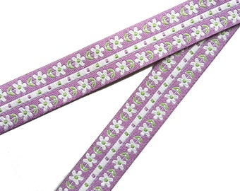 Lilac flowers Dog Lead , handcrafted , matching luxury dog collar to order, luxury dog leash, dogs , pets, jacquard ribbon,