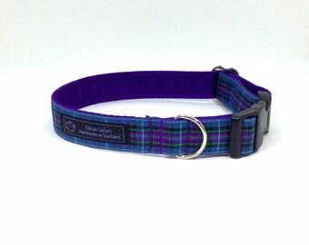 Pride of Scotland Ancient tartan collar,made in Scotland, Scottish clans, plaids, dogs, pets, tartan ribbon, Scottish