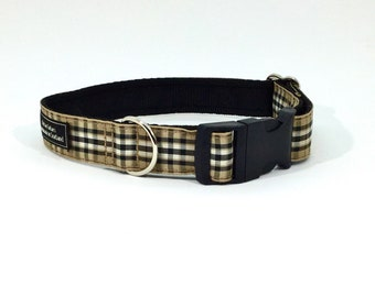 Pride Of Scotland Gold Tartan Collar, Scottish, Scottish clans, plaids, dogs, pets, tartan ribbon