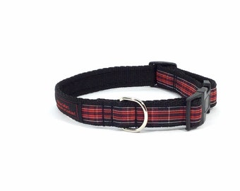 Pride of Wales Tartan Collar, ,Scottish clans, plaids, dogs, pets, tartan ribbon