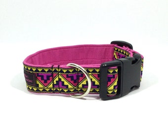 "Aztec Yellow Jacquard Collar 1.25""wide"