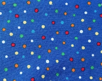 Spots on Blue Lead, handcrafted, made in Scotland, spots, spotty, cotton, Kelsae Collars