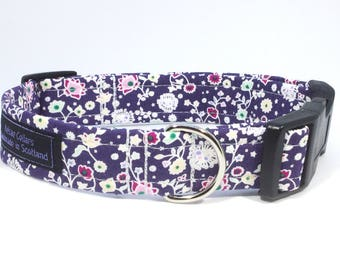 Flora Collar in Lilac, floral, dog collars, pets, dogs, leash, handcrafted