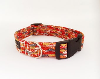 Traffic Jam Collar, Traffic Jam Lead,  Cars Lead, Cars dog collar,dog leash,luxury dog collar,luxury dog leash,dogs, pets, orange dog collar