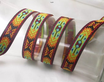 Bright Aztec Dog Lead , handcrafted , matching luxury dog collar to order, luxury dog leash, dogs , pets, jacquard ribbon,