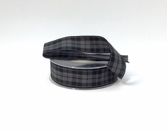 Black and Grey Tartan lead, made in Scotland, Scottish clans, plaid,  tartan