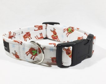 Christmas Reindeer Dog Collar,Christmas,dog collar,luxury dog collar,festive,made in scotland,reindeer