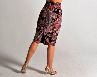 CLARA reversible ornamental tango skirt, XS-S