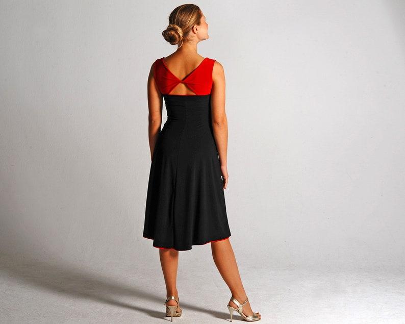 Reversible Tango Kleid rot / schwarz BIANCA Ballsaal Kleid ...