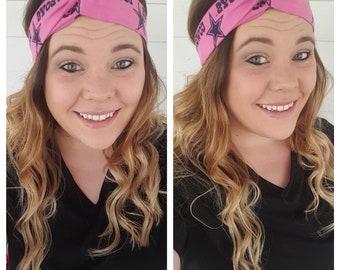 Pink Dallas Cowboys Headband, Breast Cancer Awareness