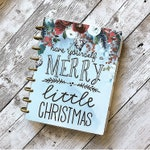 """Happy Planner Cover Set: """"Merry Little Christmas"""", 10 Mil Laminated"""