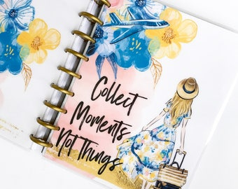 "Happy Planner Cover Set ""Collect Moments"", 10 Mil Laminated"