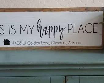 Happy place home sign