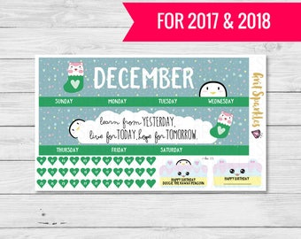 december monthly planner kit, december monthly planner stickers, ready to ship, eclp stickers for use with ERIN CONDREN LIFEPLANNER™