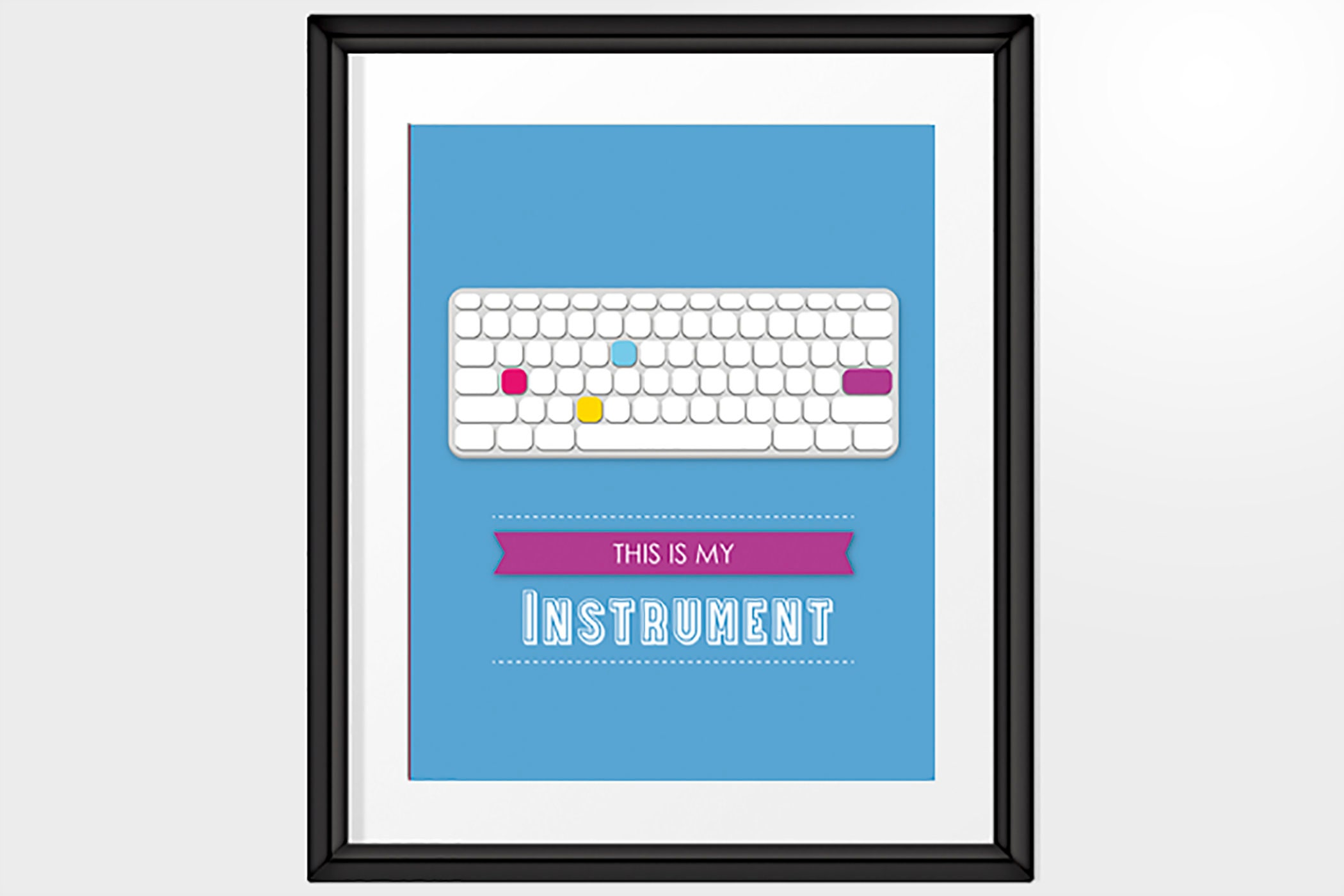 Mac Computer Keyboard Print With Quote This Is My Etsy