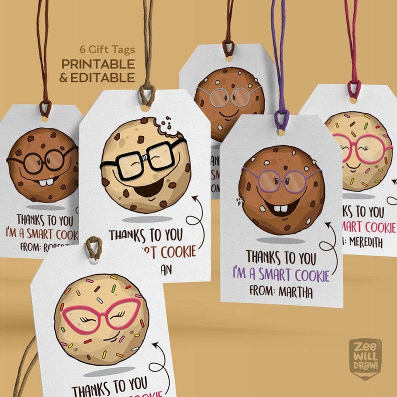 photo regarding Smart Cookie Printable named Good cookie tags - Printable and editable