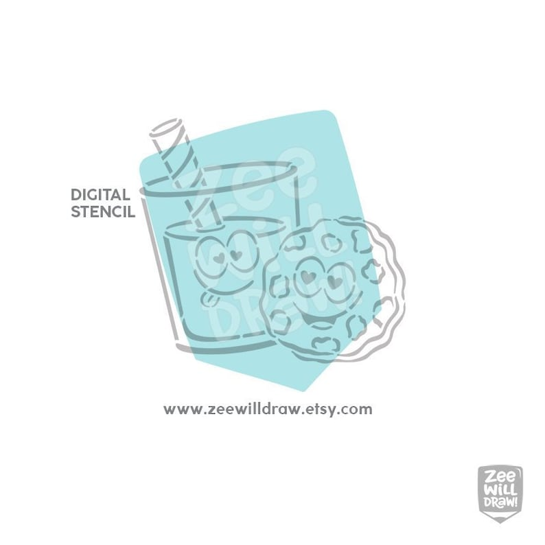 cookies and milk PYO Stencil instant download Valentine/'s day Cactus We go together like.. PERSONAL use only