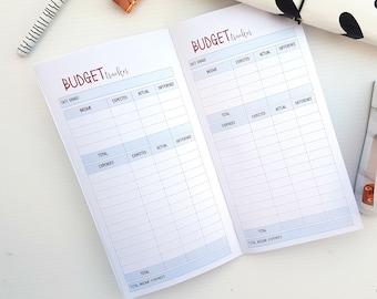 handmade budget notebook etsy