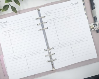 A5 NDIS Planner Insert Pack | printed planner inserts | planner refill | A5 inserts large kikki k filofax refill