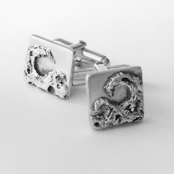 10 Silver Cuff Links Holds 18mm Cabochons A616a Ships IMMEDIATELY from California 26x20mm Silver Plated COPPER Material
