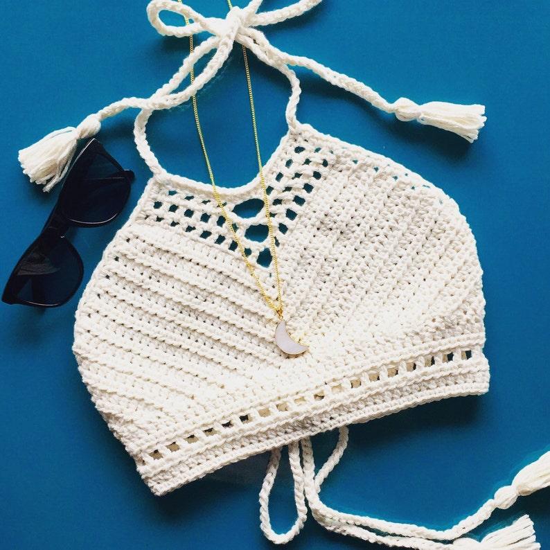 Crochet Festival Top Bikini Top Halter Top Crochet Bikini Etsy