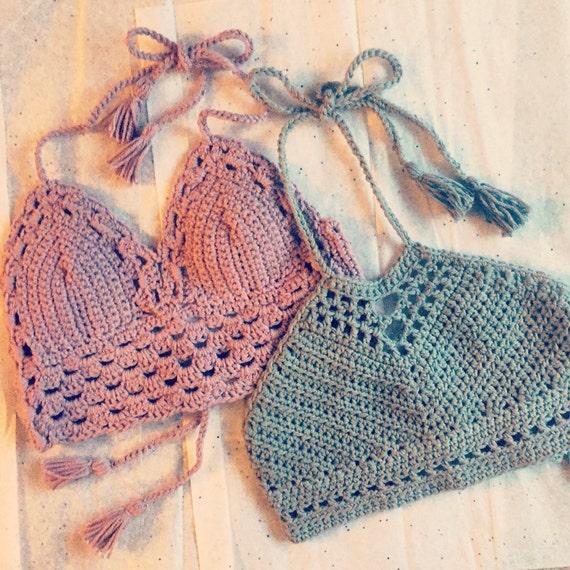 Crochet Festival Top Crochet Crop Top Crochet Bikini Top Etsy