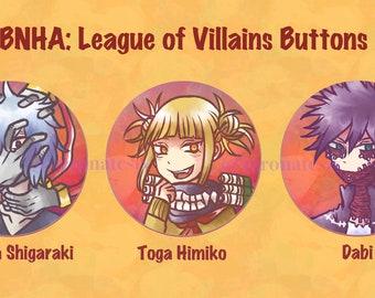 BNHA: League of Villains Button Set