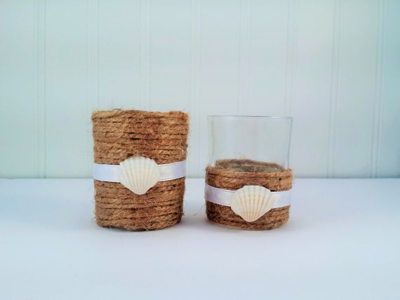 Beach Themed Votive Vases Available In Many Colors Etsy