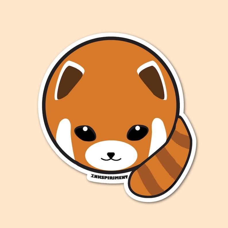 Red Panda Badge Sticker