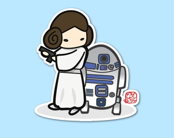 Princess Leia - Carrie Fisher Sticker