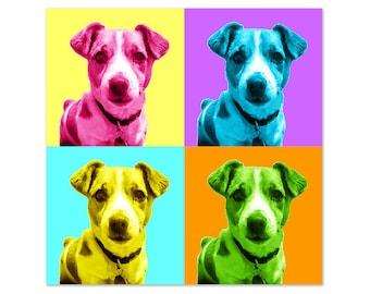Pet portrait, Pop art dog portrait, Custom pet portrait, Cat portrait, Andy Warhol colorful portrait, Personalized gift, DIGITAL FILE
