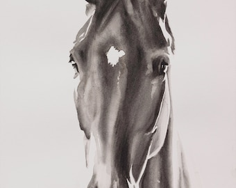 Horse portrait CUSTOM PAINTING, pet portrait.