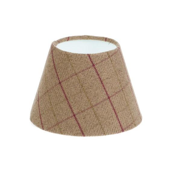 Red Balmoral Tartan Check Drum Lampshade 20 cm Diameter x 18 cm High Ceiling Pendant