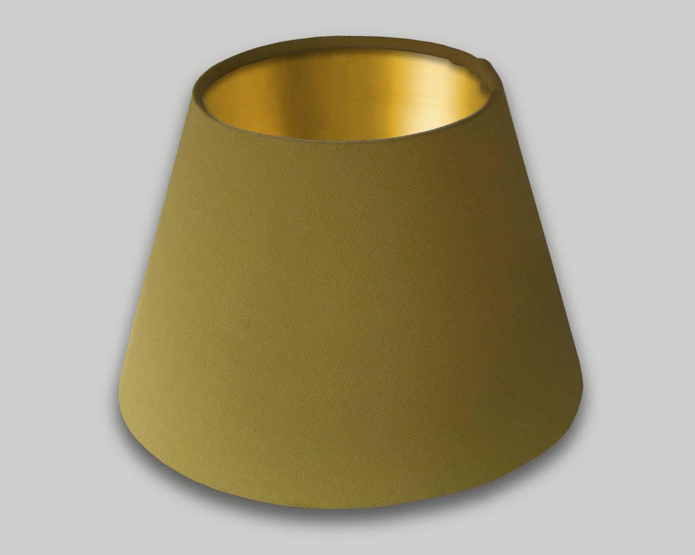 Mustard Yellow Drum Lampshade Champagne Inner Modern Lamp Shade Lightshade Lighting Lamps