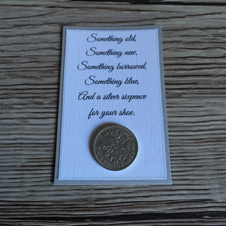 Traditional Silver sixpence Bride Gift