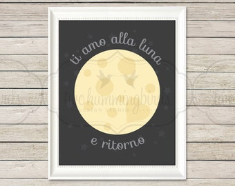 I Love You To The Moon And Back Wall Art Etsy
