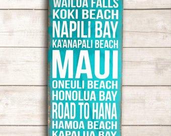 Beach Decor; Beach Wood Sign; Beach Wooden Signs; Beach Signs; Beach Sign Decor; Beach Life; Rustic Beach; Hawaii Wood Sign; Maui Wood Sign
