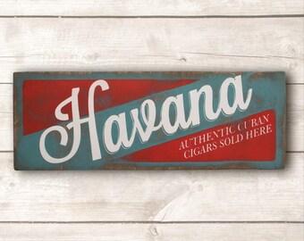 Havana Wall Art; Havana Wood Sign; Made in Canada; Beach Decor; Beach Wood Sign; Beach Wooden Signs; Beach Signs; Beach Life; Rustic Beach