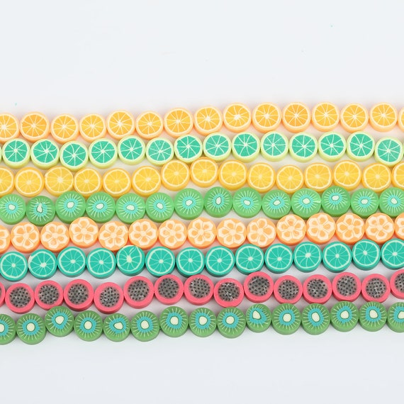 7 Colors Mixed Polymer Clay Small Loose Beads Spacers Crafts Bracelets,Vinyl Disc Heishi Bead Charms,Rondelle Vinyl Beads Supplies 8mm