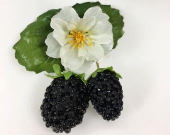 Blackberry Hair Clip SS17CFBB