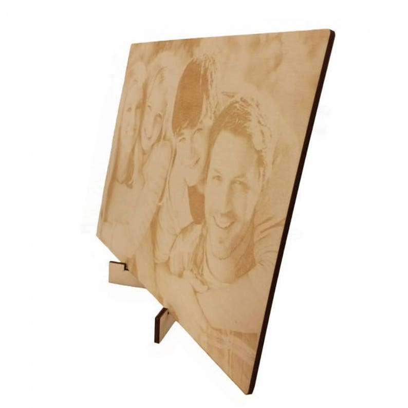 or A3-size A4 personalised picture with photo engraving made of wood in A5-