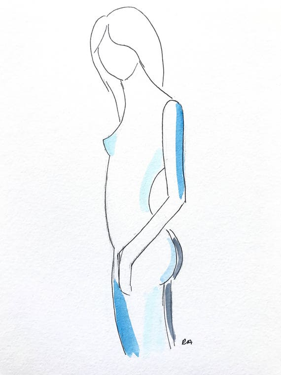 Female Body Study Art