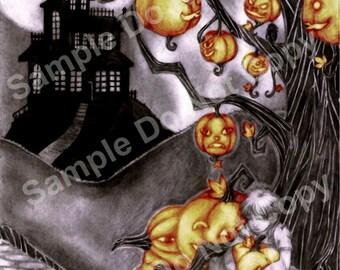 Under The Halloween Tree Light