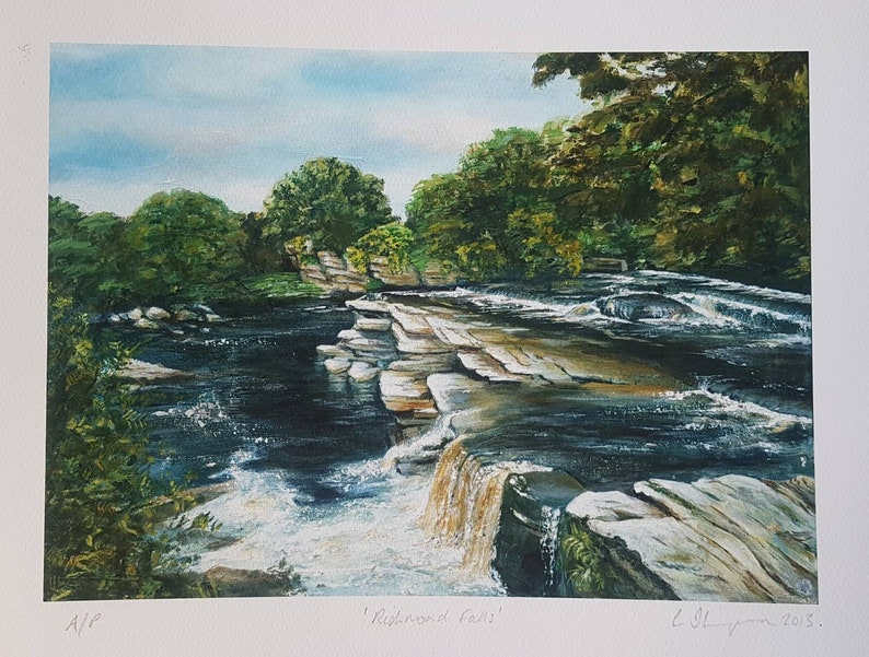 Limited edition fine art giclee print of Richmond Falls image 0
