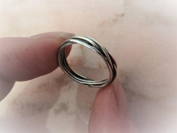 USA vendeur Baguette Band ring sterling silver 925 BEST DEAL Bijoux Rose Taille 7