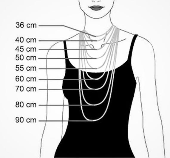 collier homme 70 cm