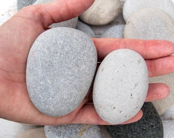 Large beach stones (20), Bulk stones, Nature crafts, Rock craft supplies, Painted rocks, Wedding stones, Aquarium pebbles, Lake Huron