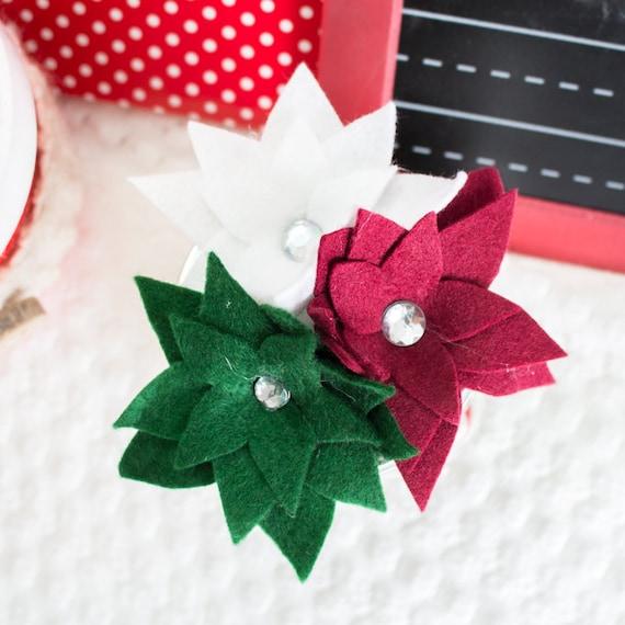 Silhouette Christmas Flower Ornament Poinsettia The Henley Cricut PDF Tutorial: Felt Flower Pattern